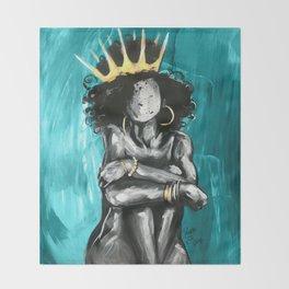 Naturally Queen IX TEAL Throw Blanket