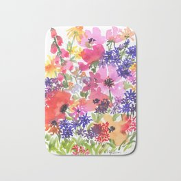 Summer's Country Garden Bath Mat