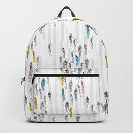 Modern, Stripey Human Skeleton Pattern. Backpack