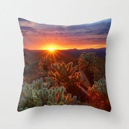 Cholla Sunset Throw Pillow