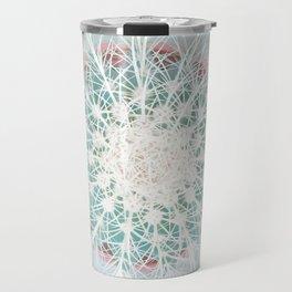 Cactus mandala - aqua mist concrete Travel Mug