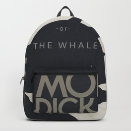 Moby Dick, The Whale, Herman Melville, book cover, american novel, nature, sea adventures, classics Backpack