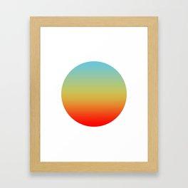 Sunset Round Framed Art Print