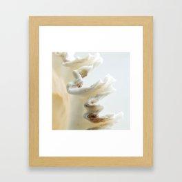 White Shell Wave Framed Art Print