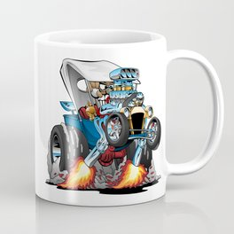 Custom T-bucket Roadster Hotrod Cartoon Illustration Coffee Mug