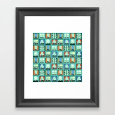 Window Herb Gardens Framed Art Print