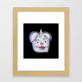 Porcin-icorn Framed Art Print