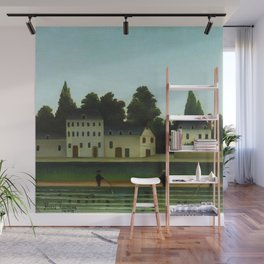 "Henri Rousseau ""Landscape and Four Fisherman"" Wall Mural"