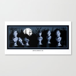 Singing Busts in the Moonlight by Topher Adam Canvas Print