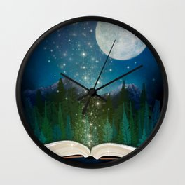 Open Your Imagination Wall Clock