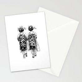 Ink Drawing | Japanese Maiko Stationery Cards