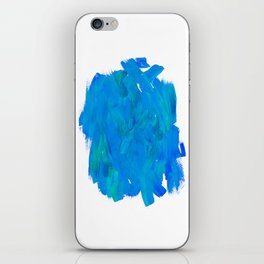 Blue Paint Abstract iPhone Skin