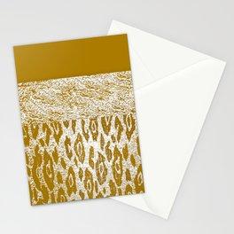 Animal Print Golden Cream Pattern Stationery Cards