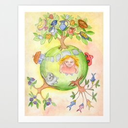My holiday planet Art Print