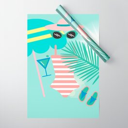 Palm Springs Ready Wrapping Paper