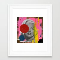 marilyn Framed Art Prints featuring Marilyn by FAMOUS WHEN DEAD