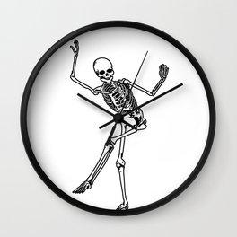 Bone Dancing Skeleton  Wall Clock