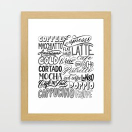 All the ways to coffee Framed Art Print
