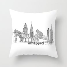 Untapped Cities Throw Pillow
