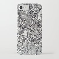 zentangle iPhone & iPod Cases featuring Zentangle by NicoleCorbelle