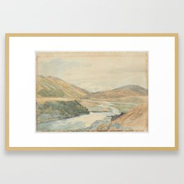 River Clarence, 1864, New Zealand, by James Crowe Richmond. Framed Art Print