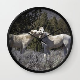 Wild Horses with Playful Spirits No 2 Wall Clock