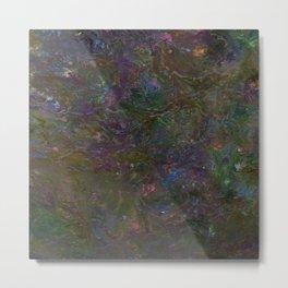 Purple Green Marble Metal Print