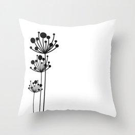 Minimal Floral Throw Pillow