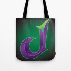 Alphabet J Tote Bag