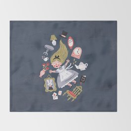 Alice in Wonderland Throw Blanket