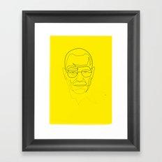 One Line Breaking Bad: Heisenberg Framed Art Print