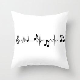 MUSICAL HEART BEAT Throw Pillow