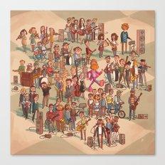 Icelandic Indie Music Canvas Print