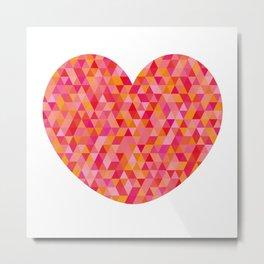 Tessellated Valentine's Heart Metal Print