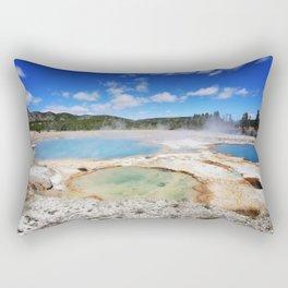 Yellowstone thermal pools Rectangular Pillow