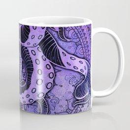Octopus on Purple Damask Mandala Coffee Mug
