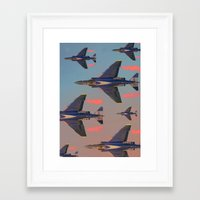 planes Framed Art Prints featuring planes planes planes by Sarah Brust