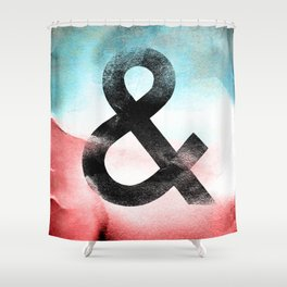 Futura Ampersand Shower Curtain