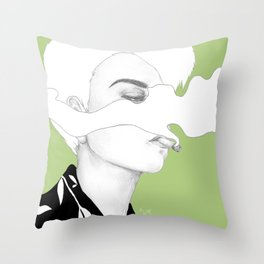 Smoke II Throw Pillow