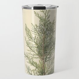 Vintage Botanical Juniper Branch Travel Mug