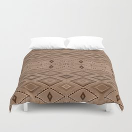 Abstract Pattern inspired by Navajo Weaving in Earthtones Duvet Cover