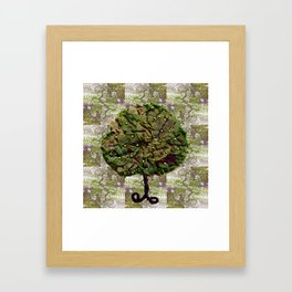 The tree of olives and figs Framed Art Print