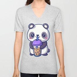 Boba Panda Unisex V-Neck