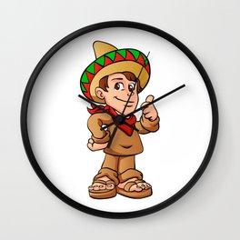 mexican kid cartoon Wall Clock