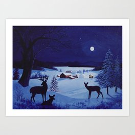 Christmas in the country Art Print