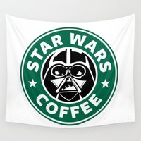 starwars Wall Tapestries featuring StarWars Coffee by Unicity