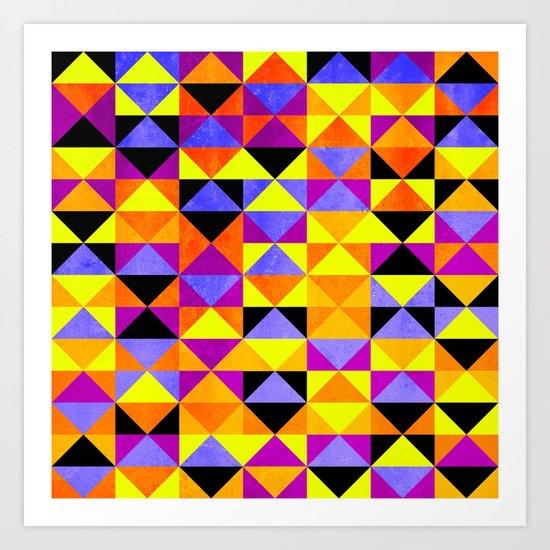 Triangles II Art Print