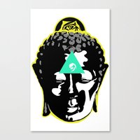 buddah Canvas Prints featuring Buddah by New Ill