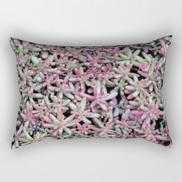 Summer Succulent Natural Pattern Rectangular Pillow