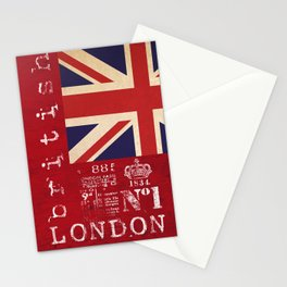 Union Jack Great Britain Flag Stationery Cards